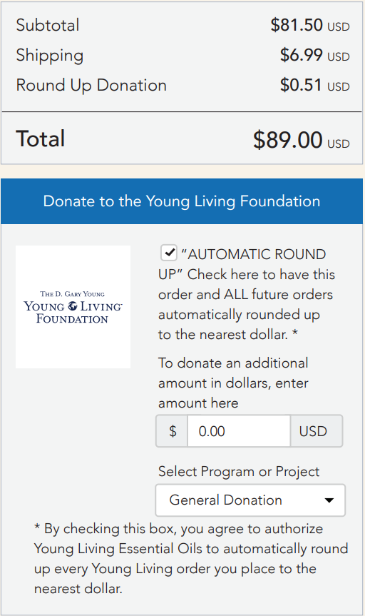 YOUNG LIVING FOUNDATION Round Up